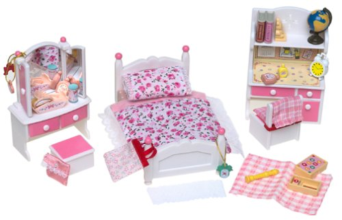 calico critters bedroom calico critters pink bedroom set b00005bv9w 10974